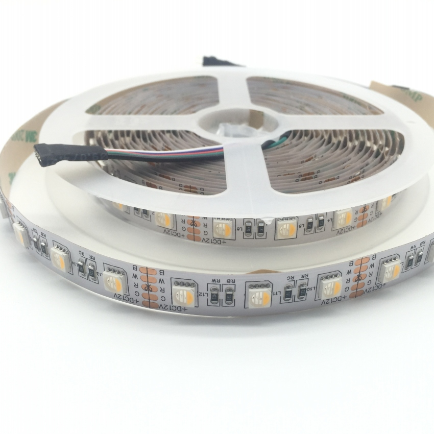5050 rgbw led strip 12v flexible light 4 color in 1 led chip 60leds m. Black Bedroom Furniture Sets. Home Design Ideas