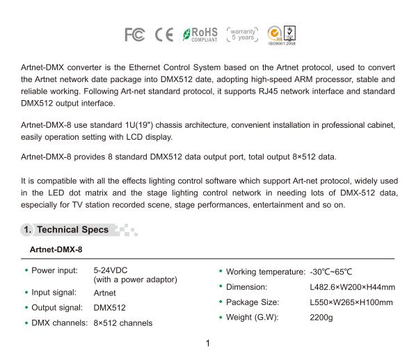 ArtNet_DMX 8_Artnet_to_DMX_Converter_Artnet_Input_512Channel_8_Ports_Output_1