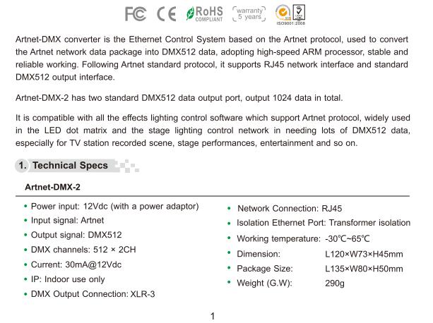 Artnet_DMX_2_ArtNet_DMX_converter_ArtNet_input_DMX_1024_channels_output_1