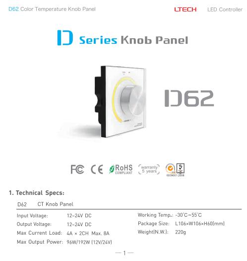 D62_Color_Knob_Panel_LTECH_Controller_1