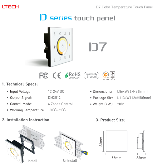 D7_Touch_Led_Controller_DMX512_4_Zones_1