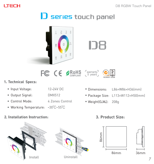 D8_Wall_LED_RGB_RGBW_Touch_Panel_1