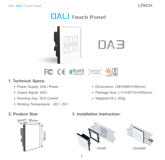 DA3_DALI_Touch_Dimmer_3CH_Digital_1