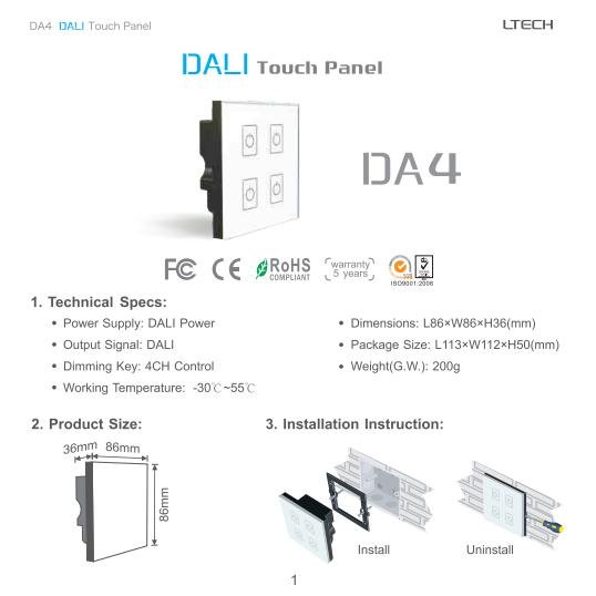 DA4_DALI_Touch_Dimmer_4CH_1