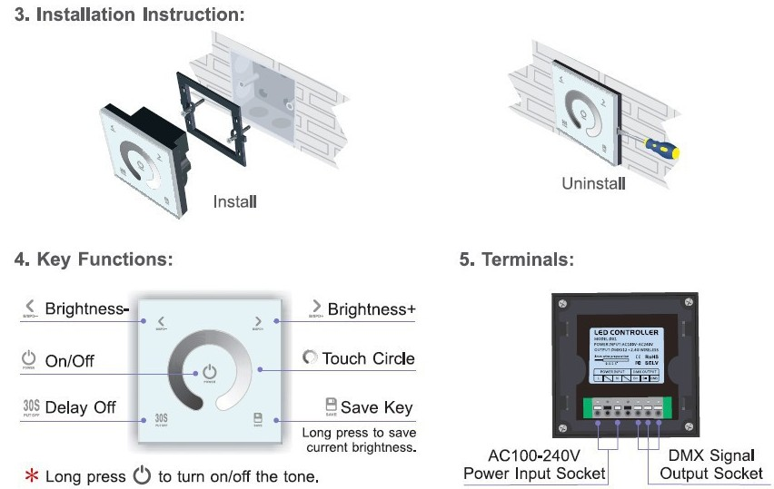 DX1_Wireless_LED_Controller_Touch_Panel_DMX_DMX512_Dimmer_user_manual
