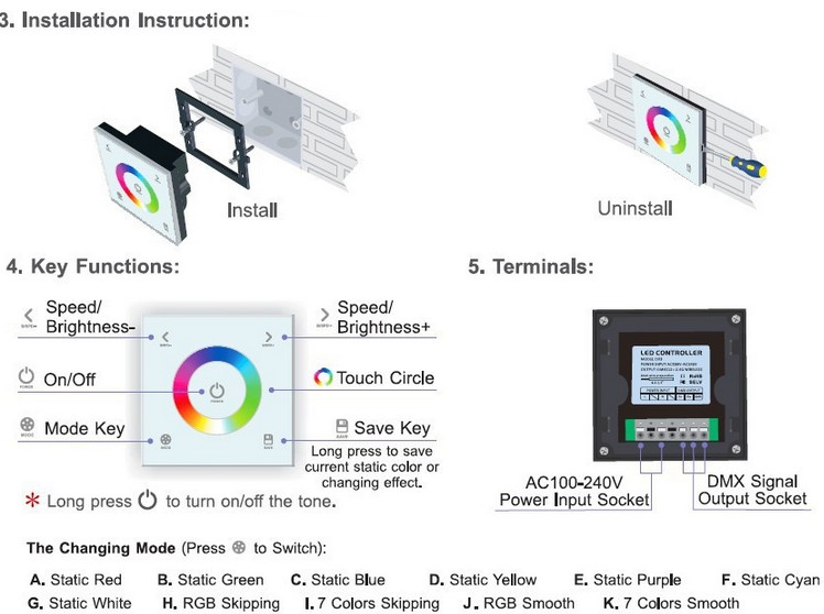 DX3_Wireless_RGB_Controller_Glass_Touch_Panel_DMX_RF_Console_user_manual