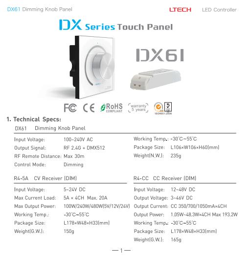DX61_Knob_Panel_Wall_Mount_LED_1