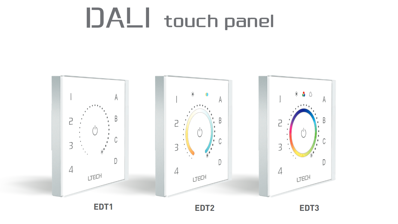 Ltech_EDT2_DALI_CT_Touch_Panel_Master_Led_Controller_1