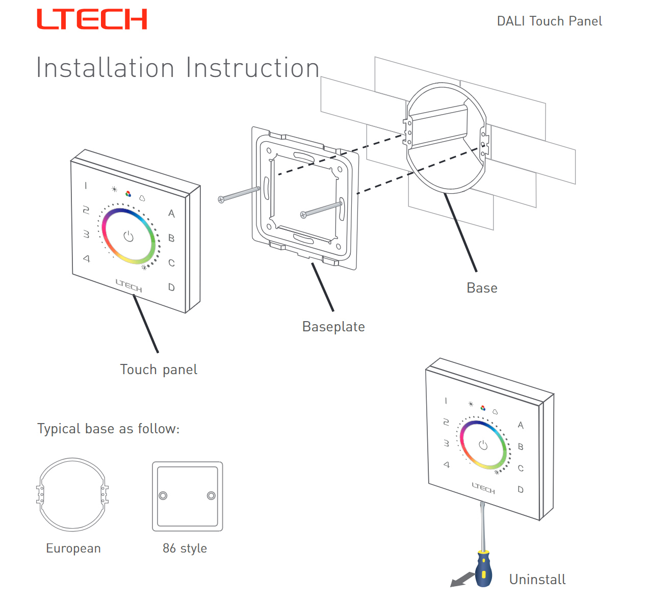 Ltech_EDT2_DALI_CT_Touch_Panel_Master_Led_Controller_3