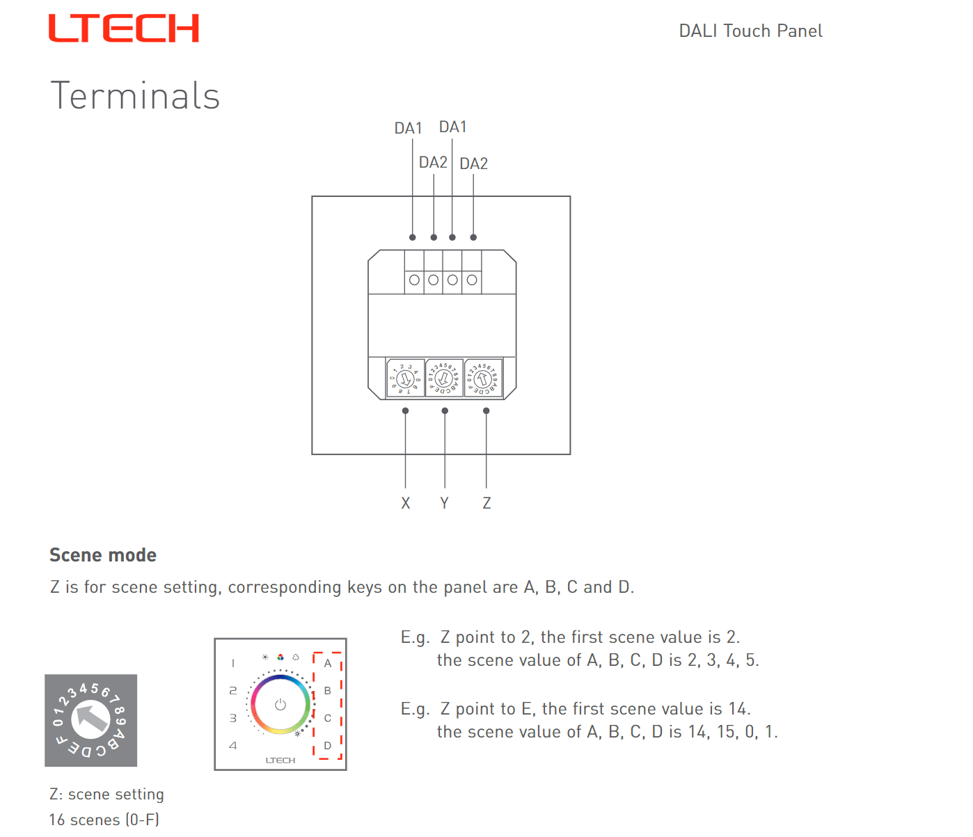 Ltech_EDT2_DALI_CT_Touch_Panel_Master_Led_Controller_9