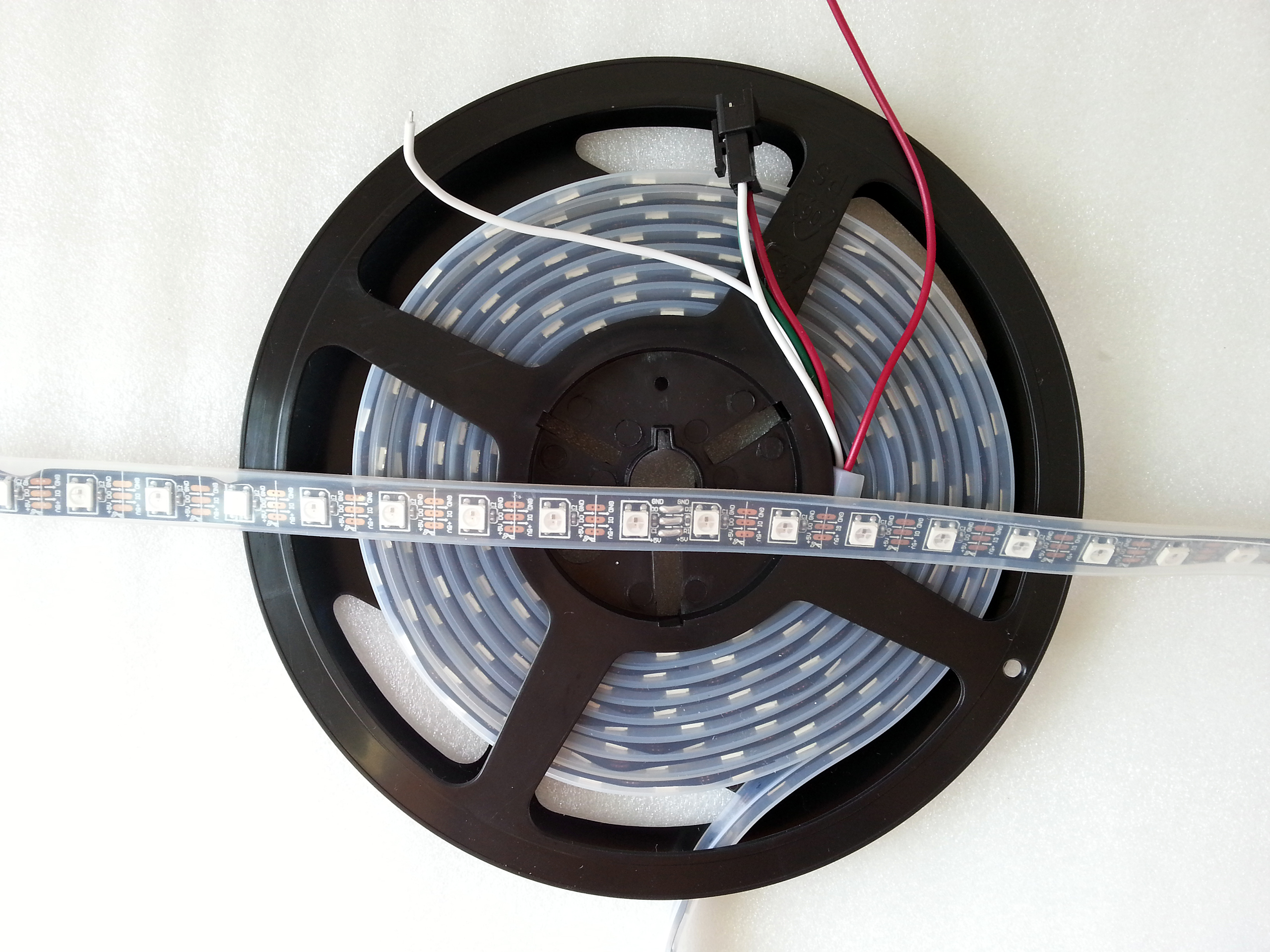 silicone_tube_casing_waterproof_programmable_WS2812B_black_PCB_LED_light_strip