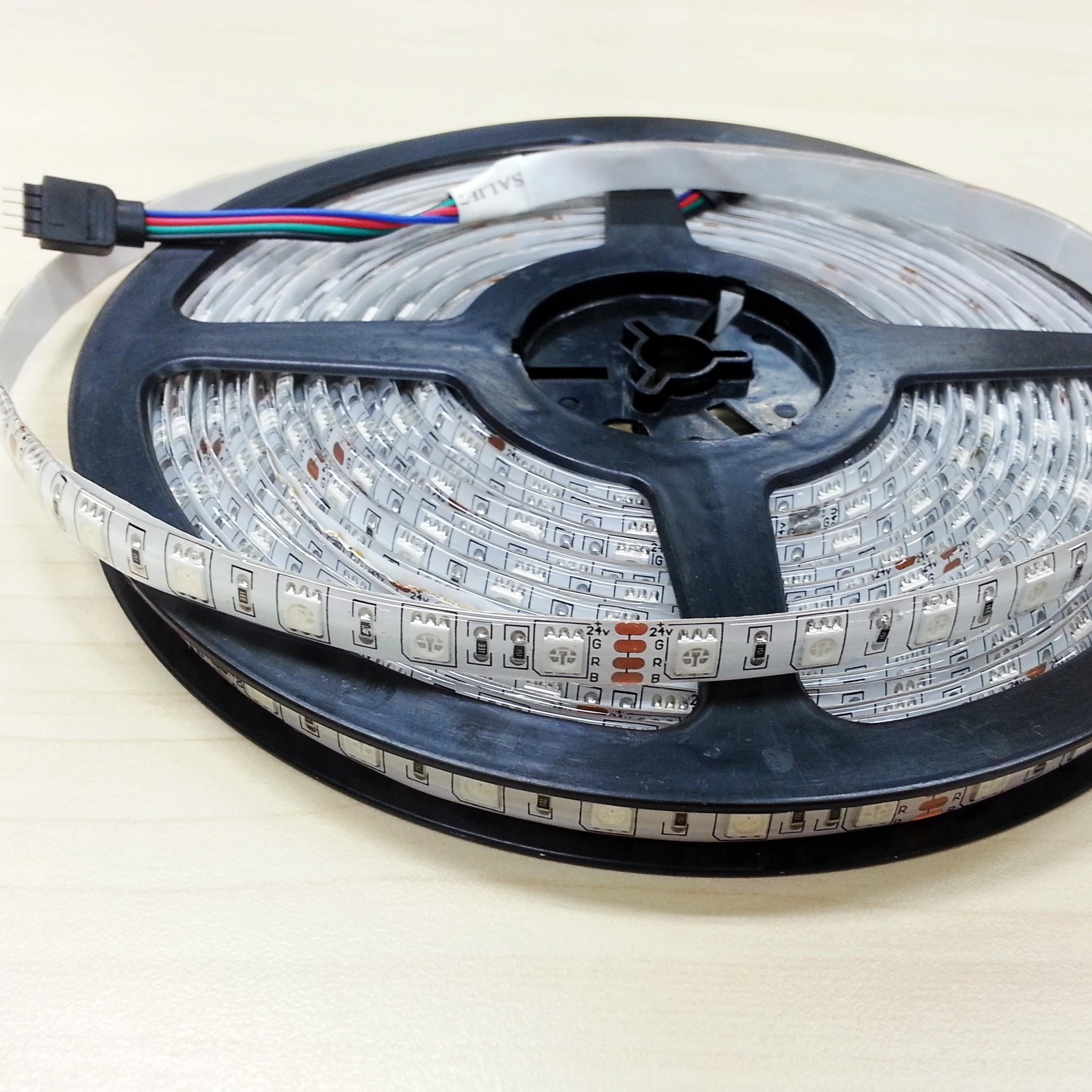 10 Meters 24V DC 5050 LED Flexible RGB Light Strip 32.8Ft 600Leds