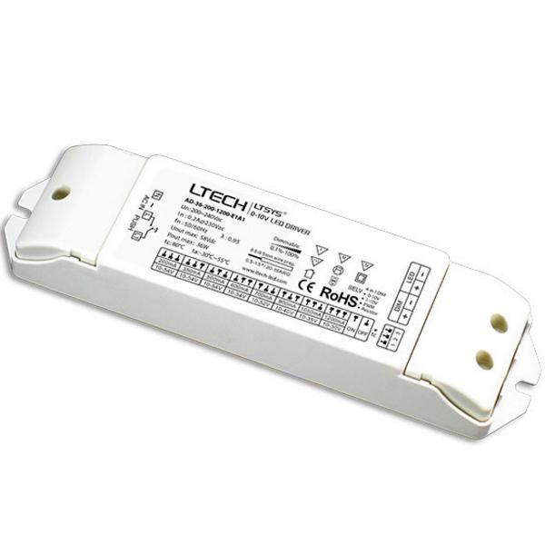 LTECH AD-36-200-1200-E1A1 LED Dimming Driver 0-10V Push Dim