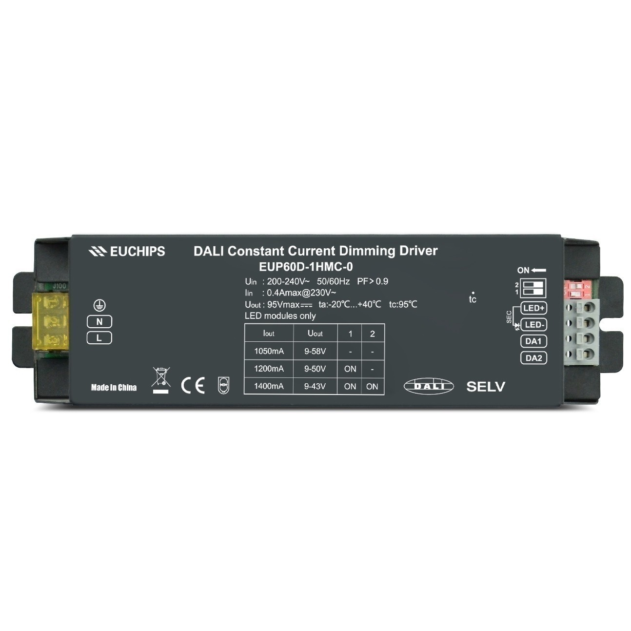 EUP60D-1HMC-0 DALI Constant Current Euchips LED Dimming Driver