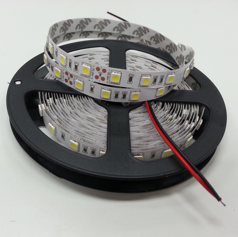 White/Warm White 16.4Ft 24V 5050 Flexible LED Strip Light 5M 300Leds