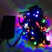 10 Meters 100 LEDs Waterproof LED Bullet Shaped Fairy Light String 2Pcs