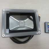 10W Outdoor RGB LED Floodlight With Remote Waterproof AC85-265V