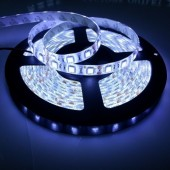 16.4Ft 300 LEDs SMD 5050 White Waterproof Flexible Strip Light Waterproof  IP65