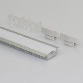 1 Meter 12mm Width Recessed LED Lighting Aluminum Profile Extrusion