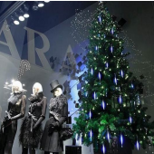 20cm 8 Tubes LED Meteor Lights Christmas Decorative Snow Lamp 2Pcs