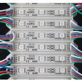 20PCS 3LEDs SMD 5050 RGB LED Module DC12V Waterproof Lights