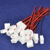 2 Pin Sticker 10mm Width Connector for 5050 Waterproof Strip 15Pcs
