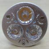 3W MR16 LED Spotlight Lamp 3-LEDs White/Warm White Light Bulb
