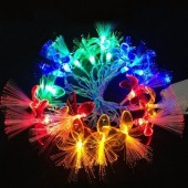 4 Meters 20 LEDs Four-color Petals Fiber RGBY Christmas String Lights