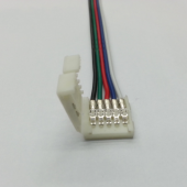 5 Pin Wire Connector For 10mm/12mm RGBW LED Strips 15Pcs