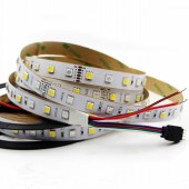 12V 24Vdc 5M 16.4 Feet 60LEDs/M 5050 RGB+CCT LED Tape Strip Light