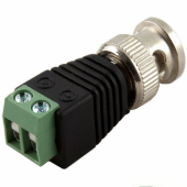 BNC Male Power Connector Coax CAT5 To CCTV Coaxial Camera 20Pcs