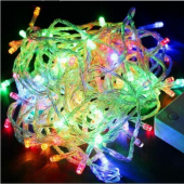 Mutiple Color Christmas String Lights 10M 100 LEDs Decoration Light 3Pcs