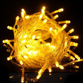 10 Meters 100Leds Yellow LED String Lights Christmas Party Light 3Pcs