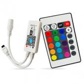 DC12V RGB RGBW Mini Wifi LED Controller + IR 24 Key Remote Control