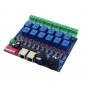 DMX-RELAY-12CH-10A 12ch Relay Switch Dmx512 Controller RJ45 XLR