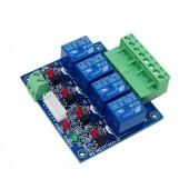WS-DMX-RELAY-4CH RJ45 10A*4ch Dmx512 Relays Decoder Led Controller