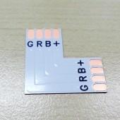 L Shape 4 Pins Connector For 10mm RGB 5050 LED Flexible Strip 15Pcs