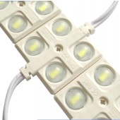 20pcs 4LEDs 5630 5730 LED Module 12V With Concave Lens Waterproof Lighting