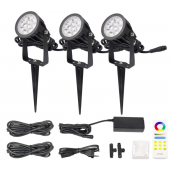 DC 24V Mi.Light FUTC08A 6W 2.4G RGB+CCT Waterproof LED Garden Light + Power Cable Kit Ourdoor Lighting Gear