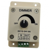 Single Color LED Dimmer Brightness Adjustable Controller DC12V 24V