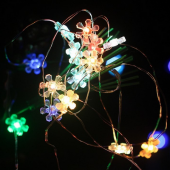 Sun Flower Multi Colors 10M 100 LED Copper Wire Fariy Light String 12V