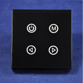 TM02 LED Wall Mounted Touch Panel 4 keys RGB Controller DC12-24V