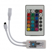 Wifi Wireless Control RGB RGBW LED Controller with 24 Key IR Remote