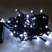 10M 100Leds Bullet Shaped White LED Light String For Christmas Tree 2Pcs