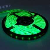 16.4Ft Green 3528 LED Flexible Strip Light 300 Leds Waterproof 12V