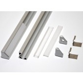 1 Meter Aluminum Channel L Shaped Mounted Profile For LED Strips