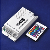 3 Channels Music RGB LED Controller IR Remote 12-24V