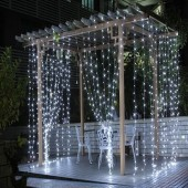 Christmas Decoration 3m x 3m 300Leds LED Curtain String Lights Holiday Lighting