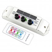 Bincolor BC-350RF Rotary Remote Control DC 12-24V 3CH Display Led Controller