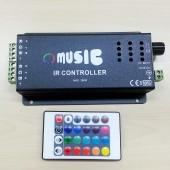 DC12V 24V Music IR Controller Smart RGB LED Controller